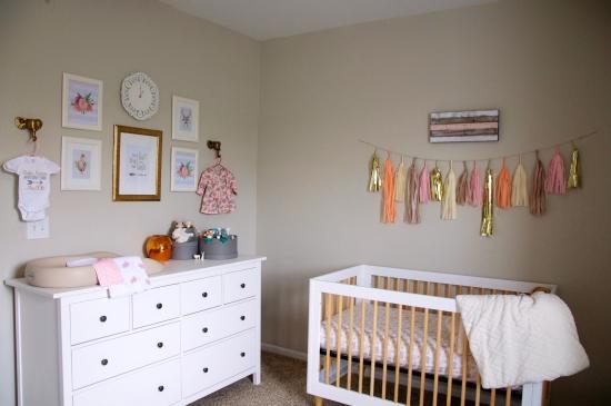 Baby Girl Nursery Gallery Wall